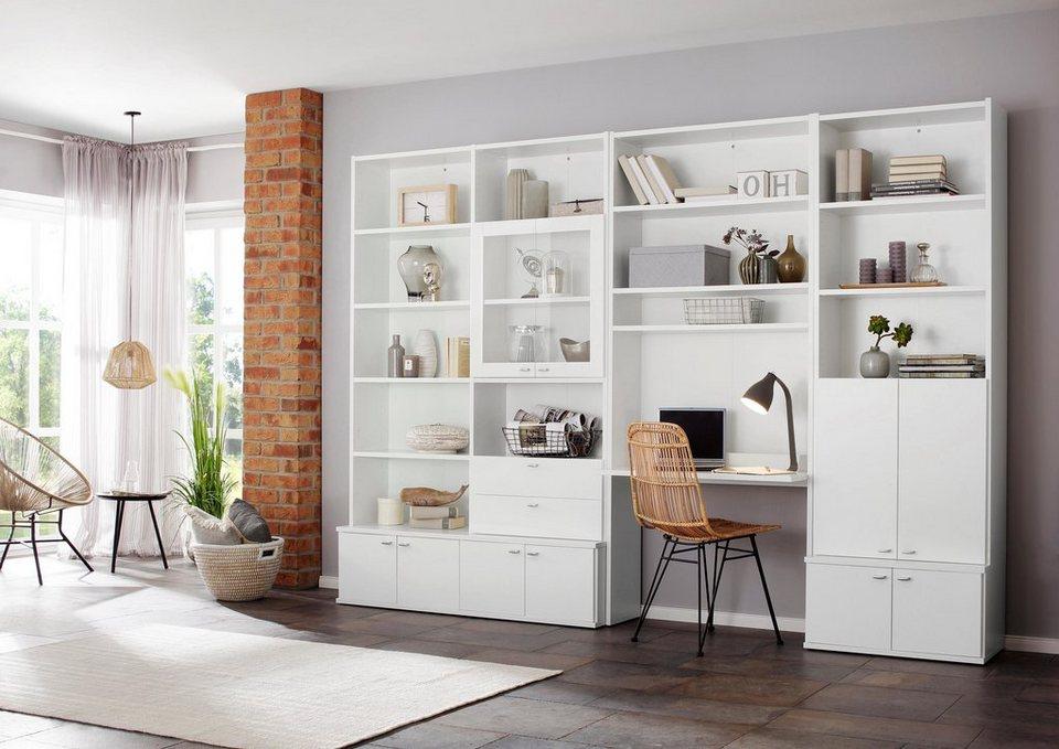 home affaire b cherregal dana mit schreibtisch h he 217 cm online kaufen otto. Black Bedroom Furniture Sets. Home Design Ideas