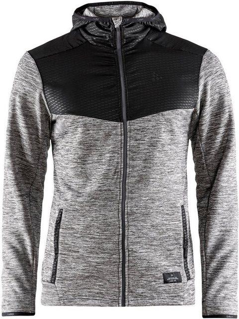 Herren Craft Trainingsjacke Breakaway Jersey Hood Jacket Men grau | 07318572976238