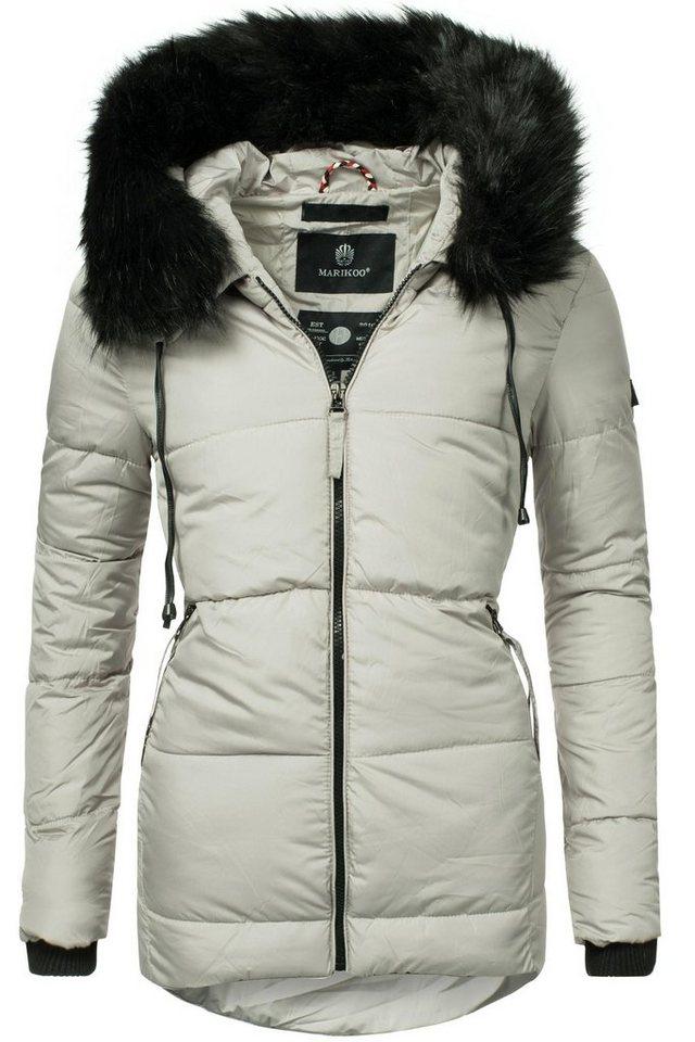 Marikoo Winterjacke »Jale« sportliche Damen Winter Outdoorjacke mit Kapuze 45b074b27e