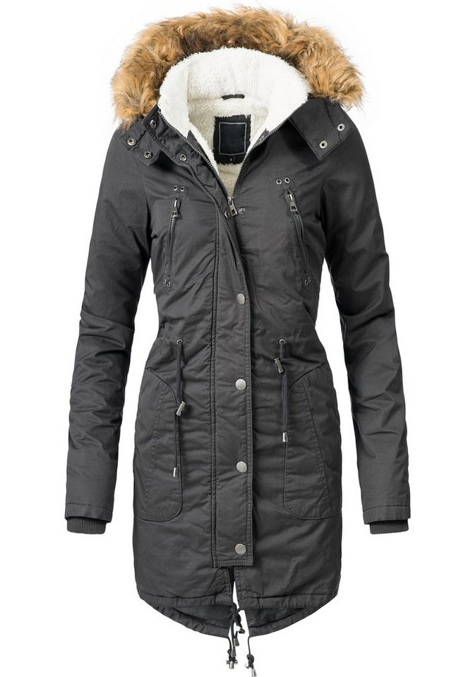 the latest 7baaf 99921 PEAK TIME Wintermantel »L62029« modischer Damen Winterparka mit Kunstfell  an der Kapuze online kaufen | OTTO