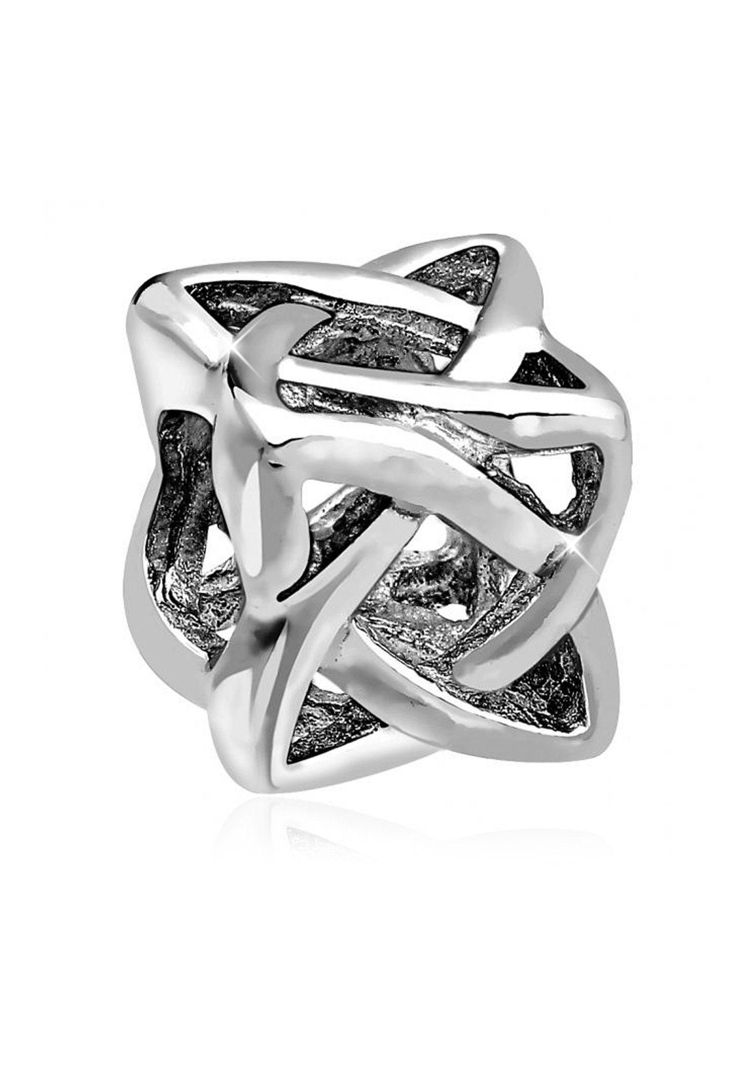 Nenalina Charm-Einhänger »Knoten Würfel Bead Anhänger 925 Sterling Silber«