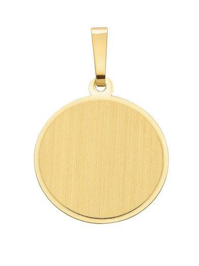 Adelia´s Kettenanhänger »Gold 8 k (333) Gravurplatte«, 8 k 333 Gelbgold Ø 1.55 cm