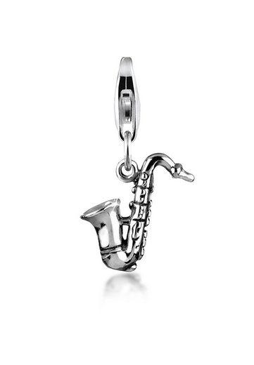 Nenalina Charm-Einhänger »Saxophon Symbol Musik Instrument 925 Silber«