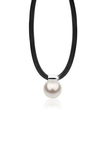 Nenalina Perlenkette »Kautschuk Perle Swarovski® Kristalle 925 Silber«