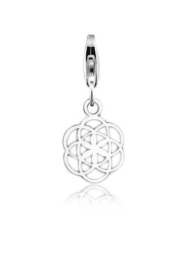 Nenalina Charm-Einhänger »Anhänger Blume des Lebens Ornament 925 Silber«