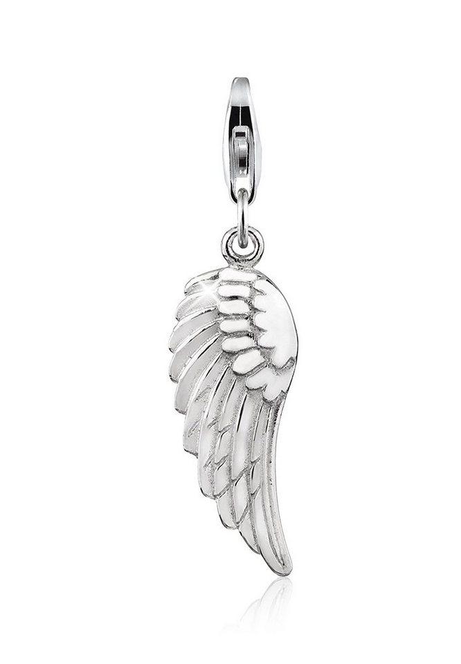 Nenalina Charm-Einhänger »Anhänger Flügel Glücksbringer 925 Sterling Silber« | Schmuck > Charms > Charms Anhänger | Nenalina