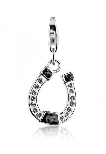 Nenalina Charm-Einhänger »Anhänger Hufeisen Swarovski® Kristalle 925 Silber«