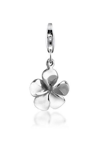 Nenalina Charm-Einhänger »Anhänger Frangipani Blüte Flower 925 Silber«
