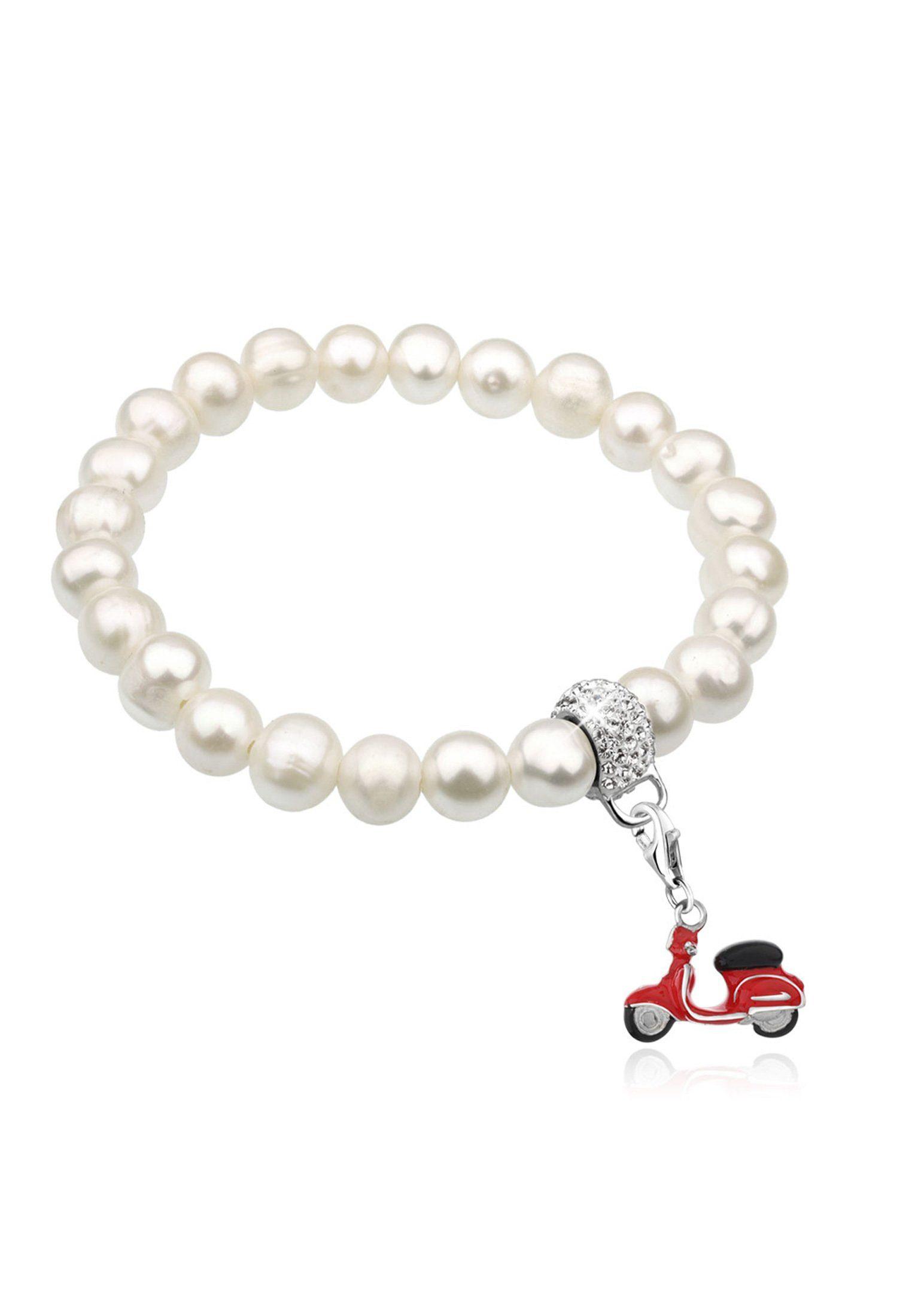 Nenalina Perlenarmband »Set: Roller Emaille Perlen Swarovski® Kristalle Silber« (Set, 2 tlg)