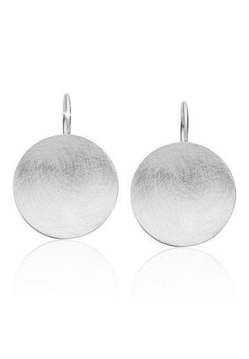 Nenalina Paar Ohrhänger »Basic Geo Kreis Brushed Trend 925 Silber«