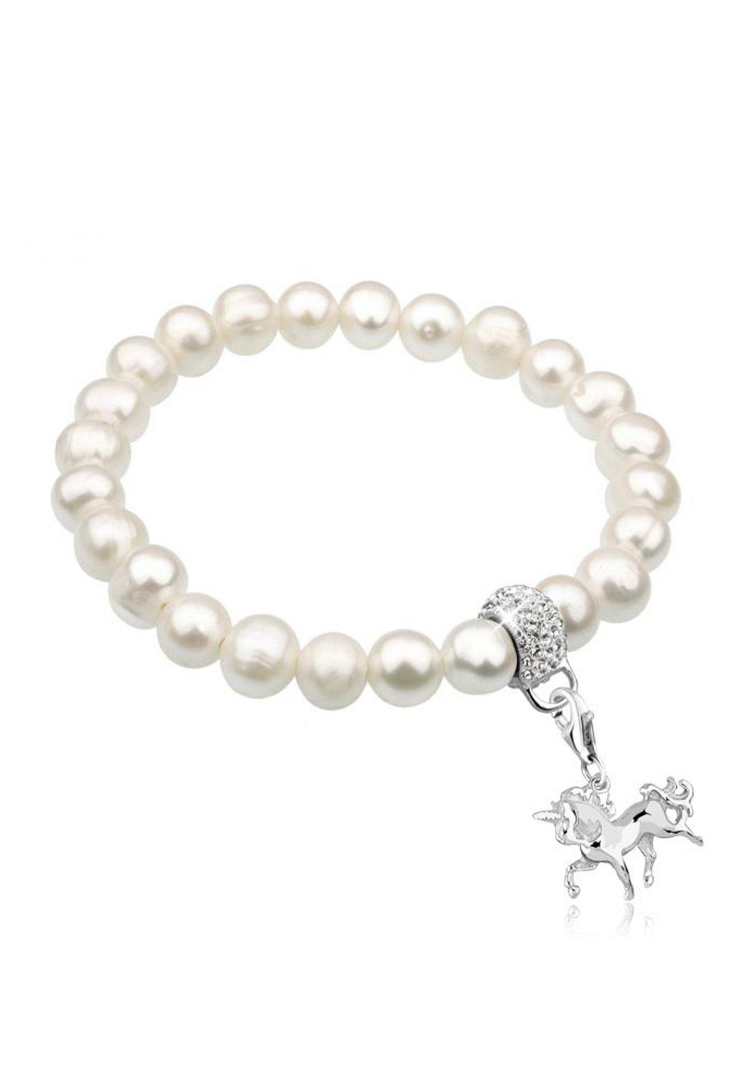 Nenalina Perlenarmband »Einhorn Perlen Swarovski® Kristalle 925 Silber«