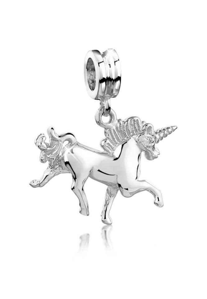 Nenalina Kettenanhänger »Bead mit Einhorn-Anhänger in 925 Sterling Silber« | Schmuck > Halsketten > Ketten ohne Anhänger | Nenalina
