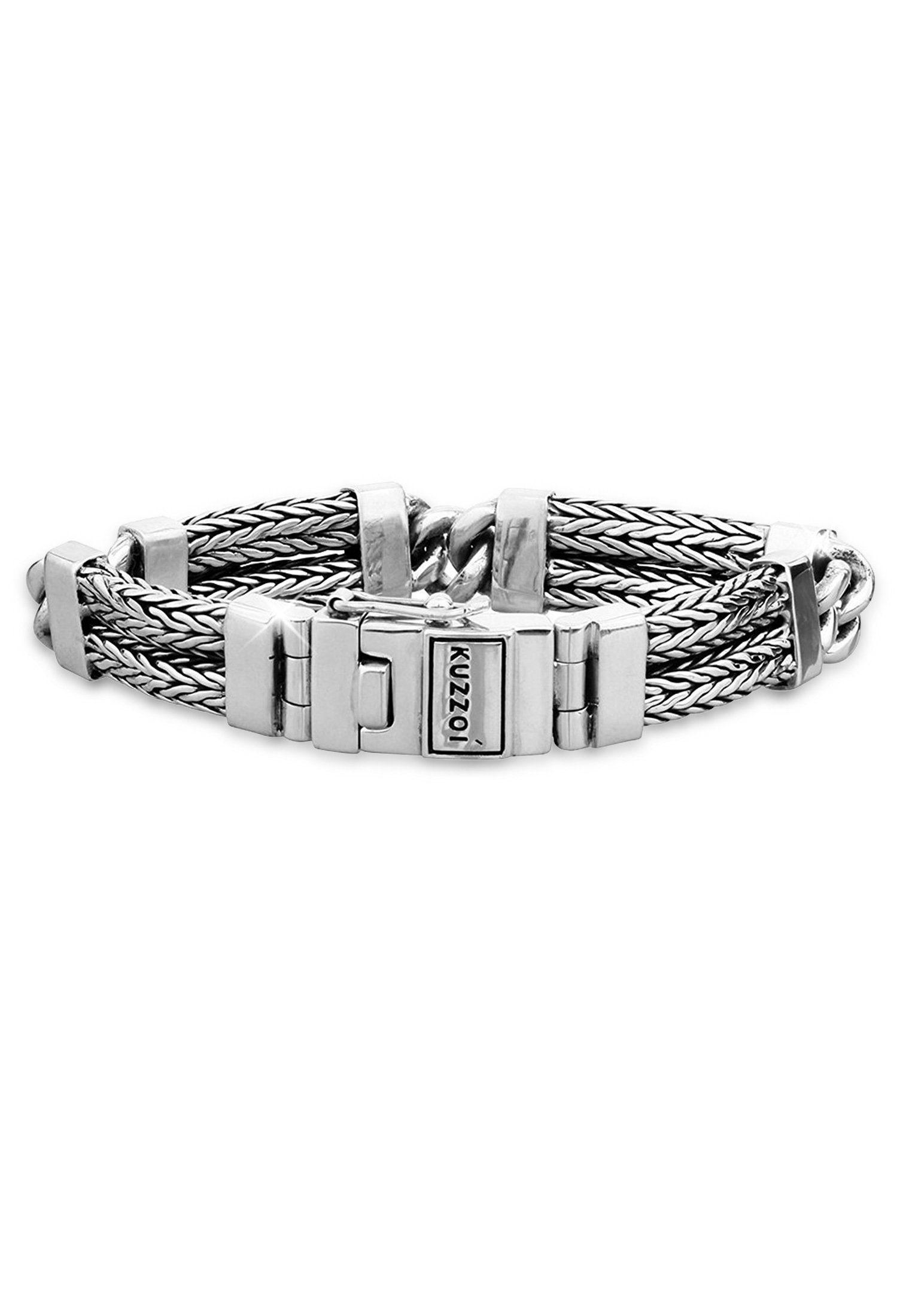 Kuzzoi Armband »Herren Gliederarmband Schlangenkette 925 Silber«