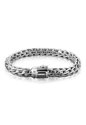 Kuzzoi Armband »Gliederarmband Zopfmuster Unisex 925er Silber«
