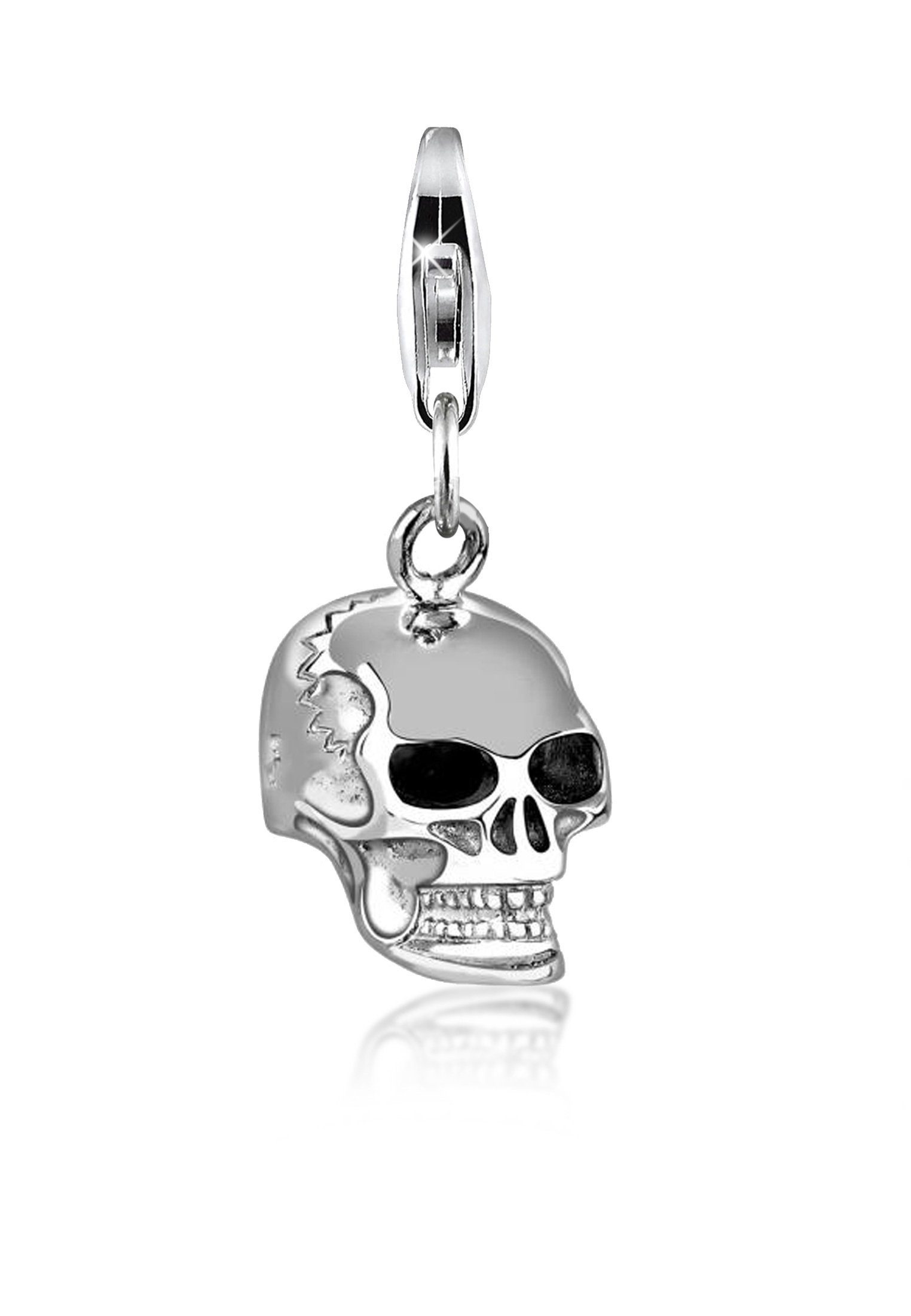 Nenalina Charm-Einhänger »Totenkopf Anhänger 925 Sterling Silber«
