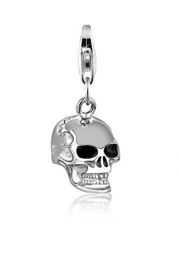Nenalina Charm-Einhänger »Totenkopf Anhänger 925 Silber«
