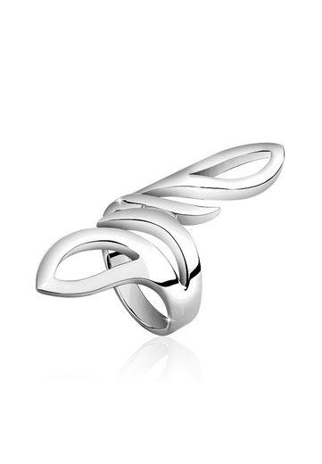 Nenalina Fingerring »Wickelring Basic Statement Struktur 925 Silber«