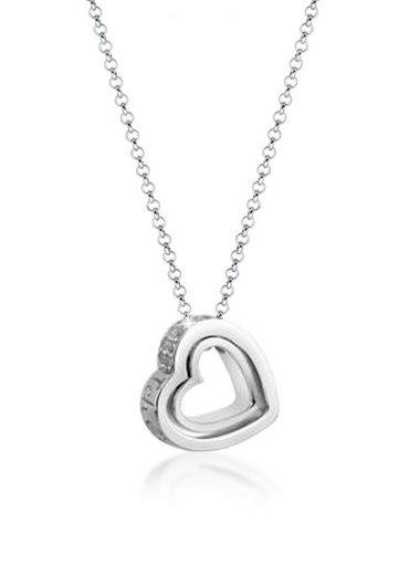 Nenalina Collierkettchen »Herz Symbol Zirkonia Anhänger Erbskette 925 Silber«