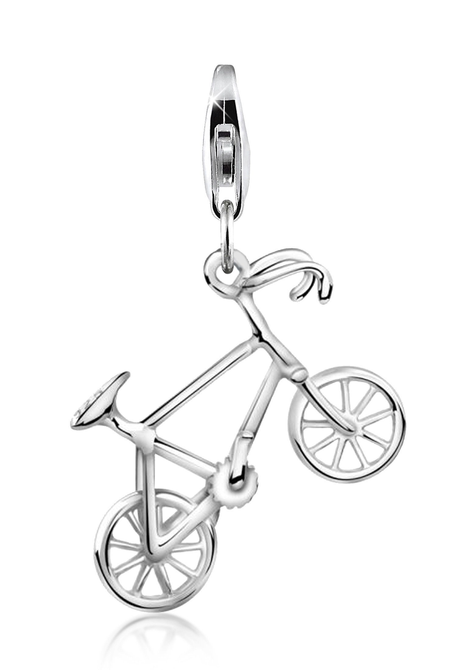 Anhänger Motorrad  mit Kette-925er Sterling Silber-Made in Germany-Neu