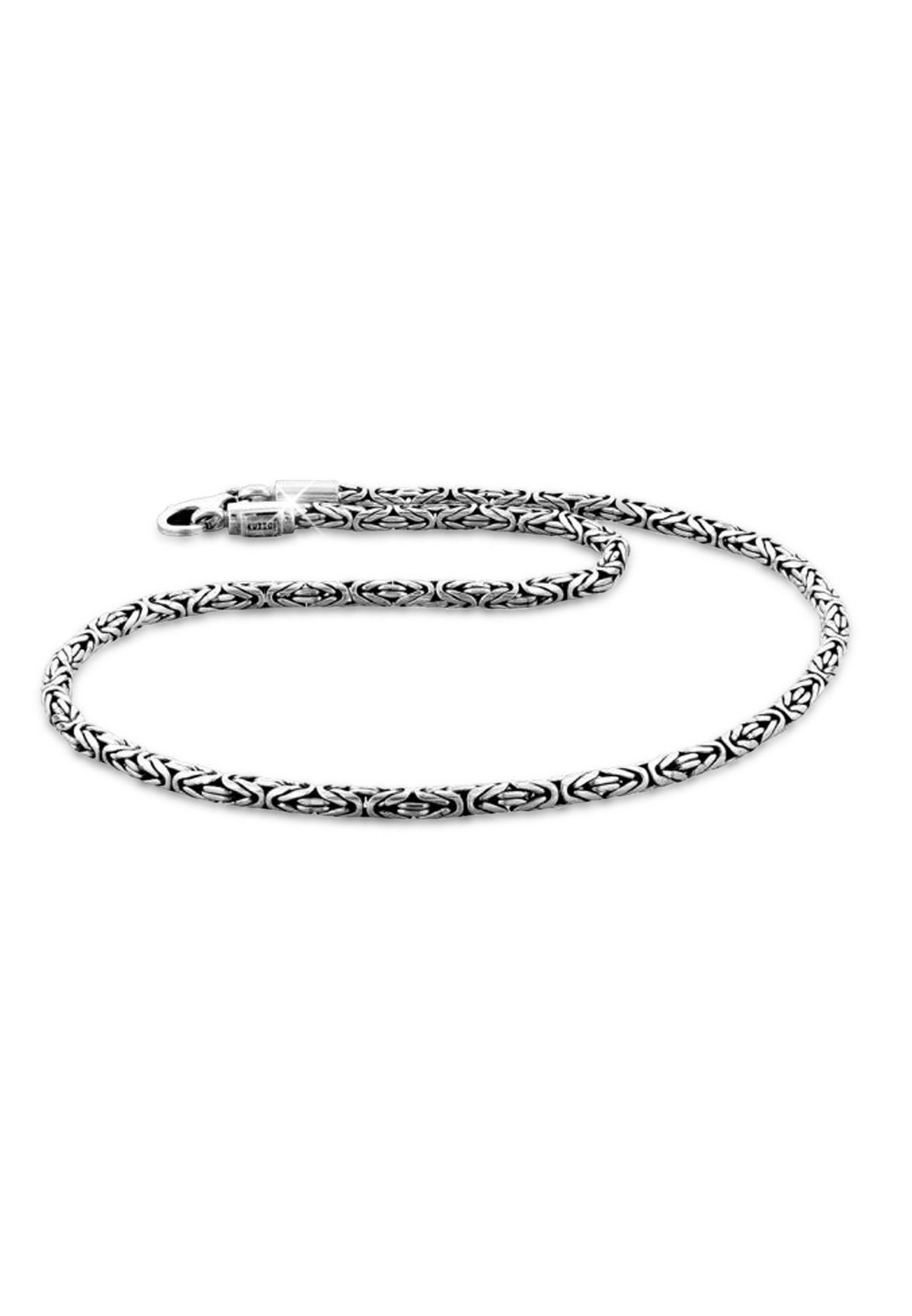 Kuzzoi Silberkette »Männer Königskette Oxidiert Karabiner 925 Silber«