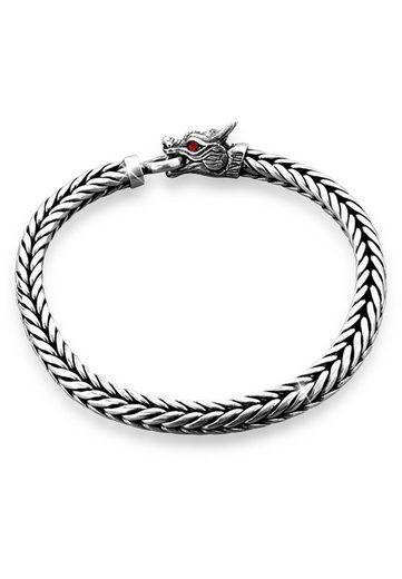 Kuzzoi Armband »Herrn Drache Zirkonia Ringverschluss 925er Silber«