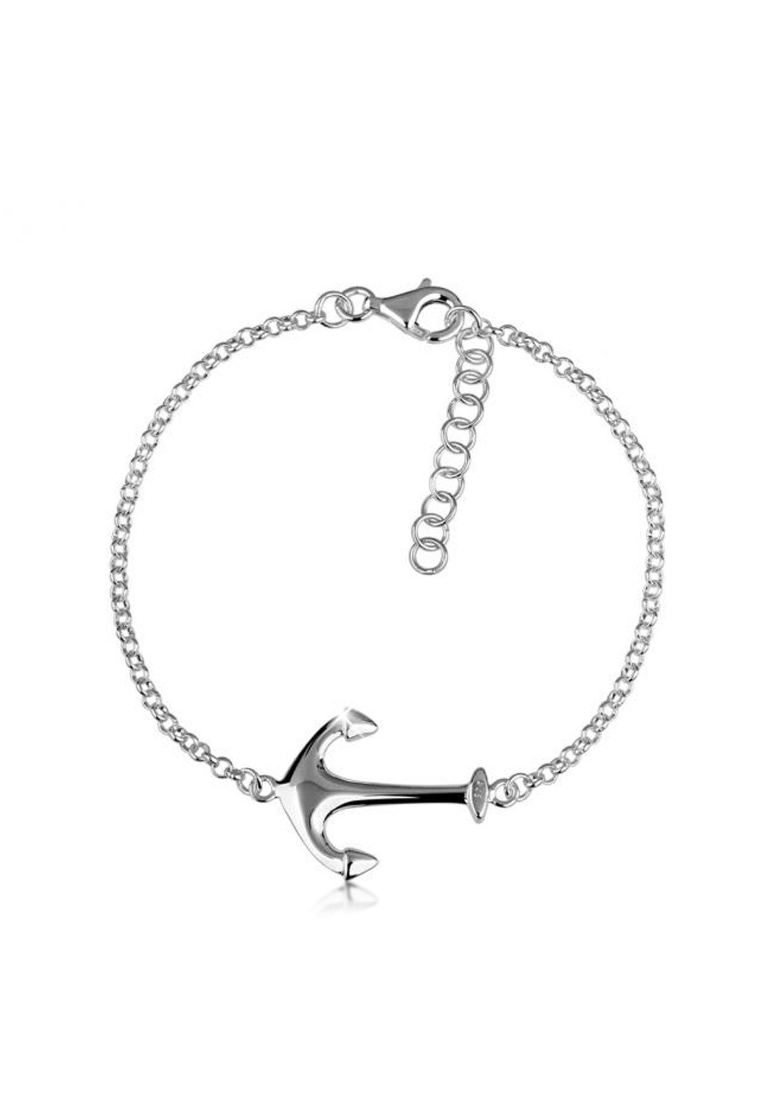 Nenalina Armband »Damenarmband Anker Maritim Meer Trend 925 Silber«
