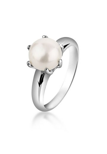 Nenalina Perlenring »Perlenring Süßwasserzuchtperle Klassik 925 Silber«