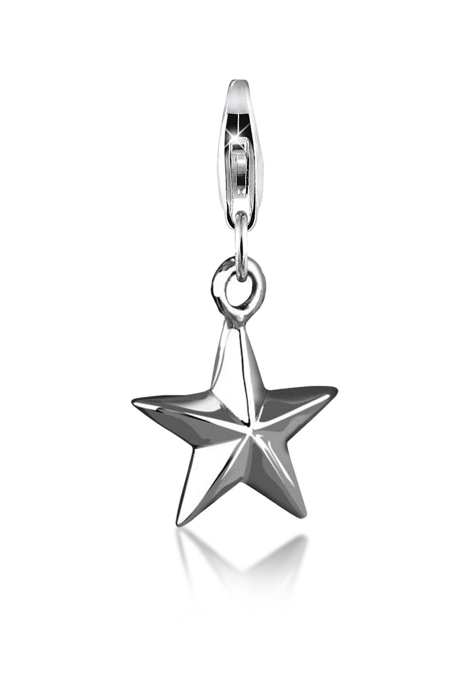 Nenalina Charm-Einhänger »Stern-Anhänger Star Party Astro 925er Silber«