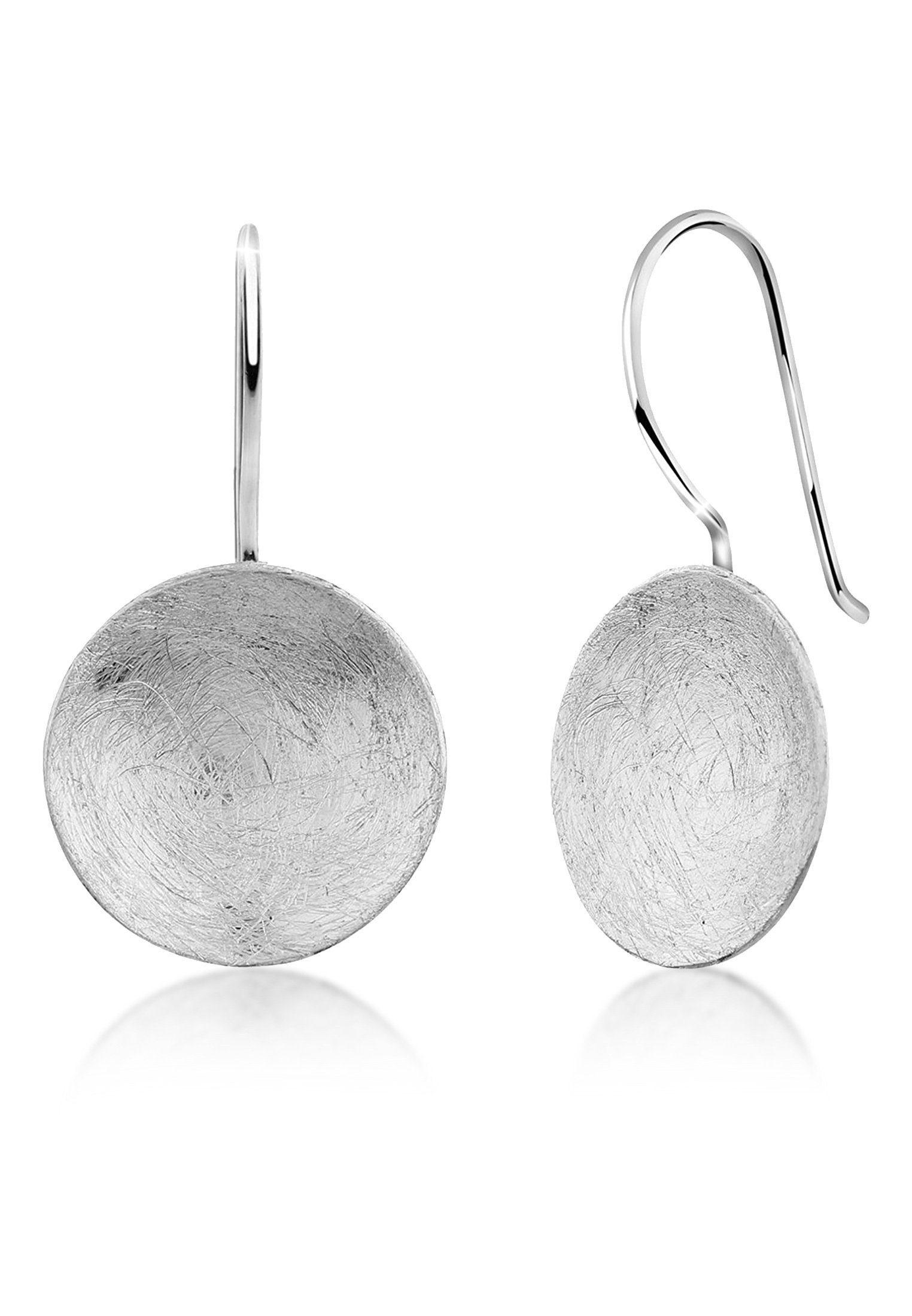 Nenalina Paar Ohrhänger »Hänger Basic Geo Look Kreis Brushed 925er Silber«