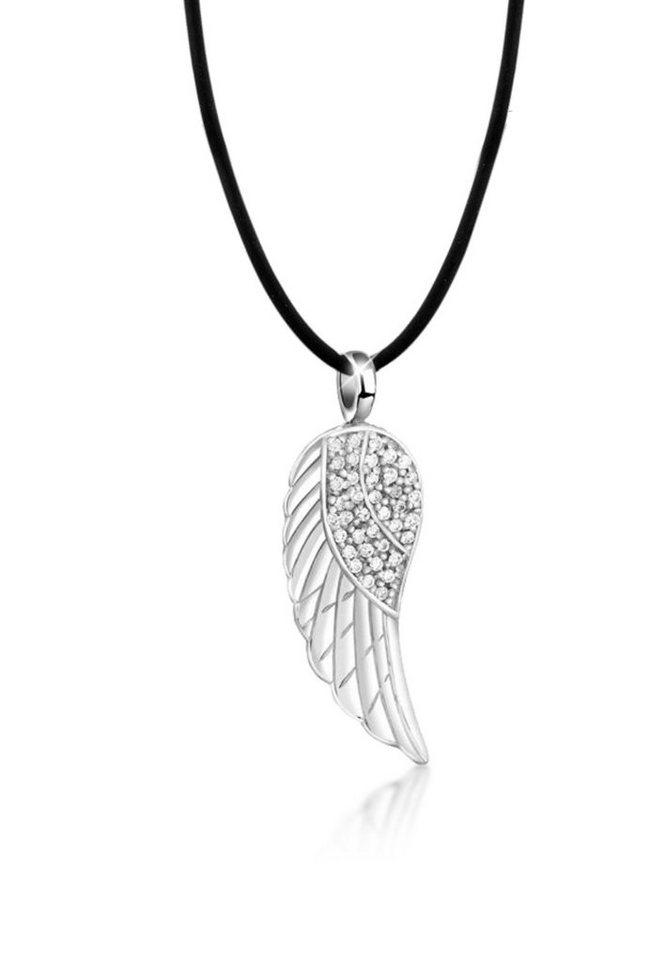 Nenalina Collierkettchen »Flügel Anhänger Swarovski® Kristalle 925 Silber«