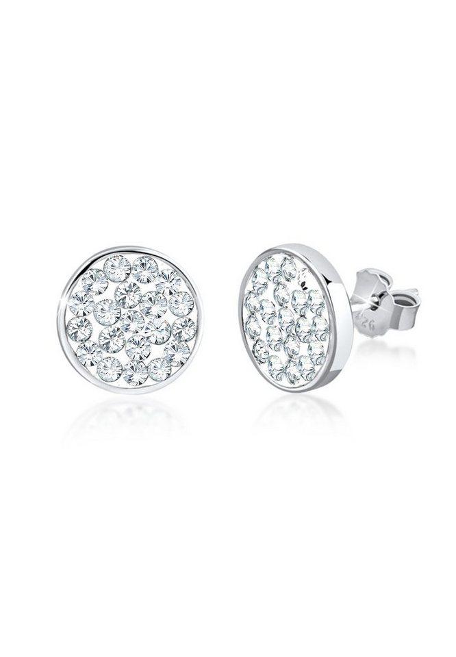 ab8d34085817 Nenalina Paar Ohrstecker »Ohrstecker Kreis Swarovski® Kristalle 925 Silber«