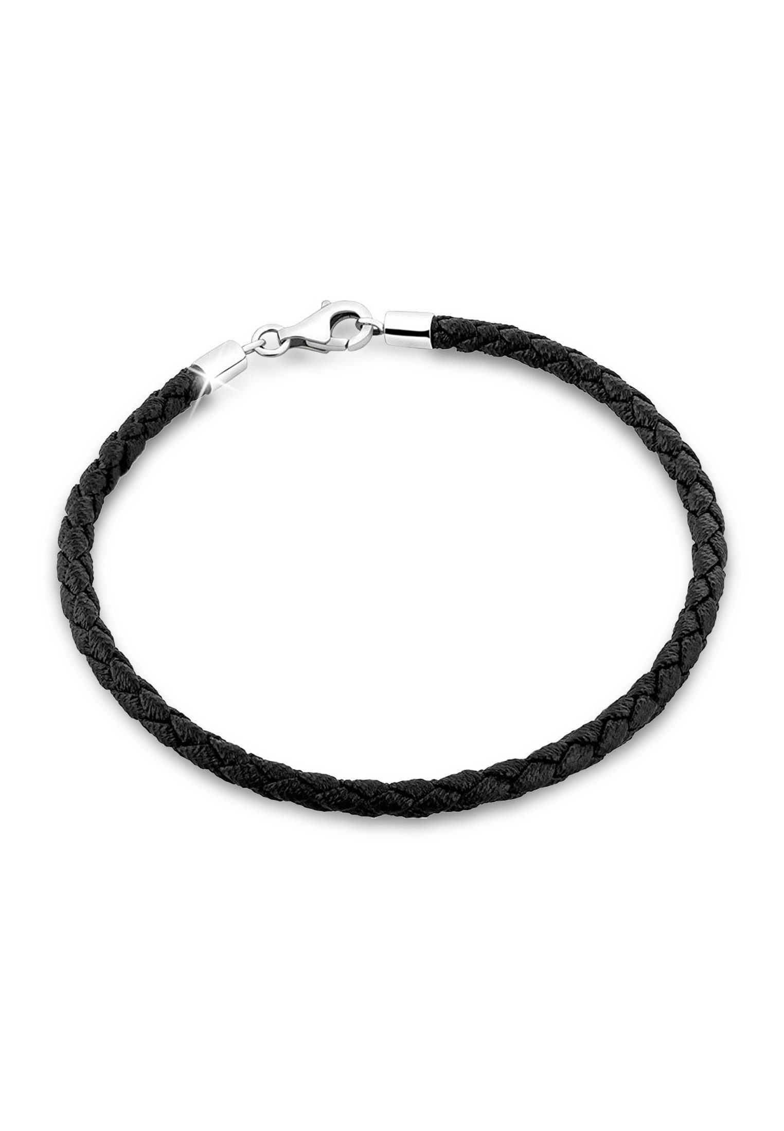 Nenalina Armband »Bead Anhänger Bettelarmband Fake Leder 925 Silber«