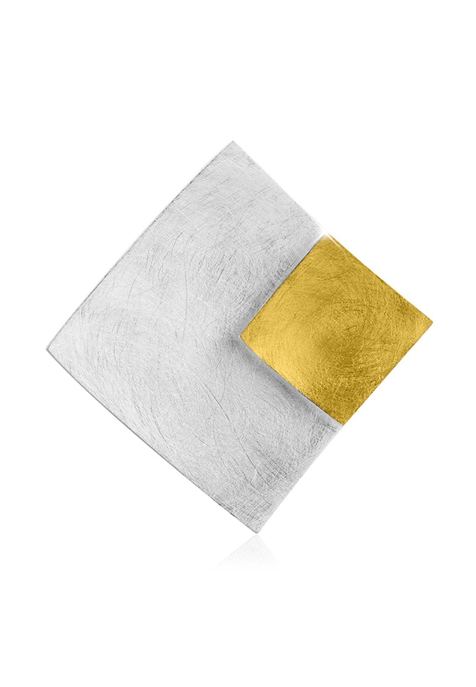 Nenalina Kettenanhänger »Schmuckanhänger Rechteck Bi-Color 925 Silber«