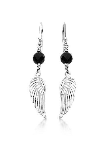 Nenalina Paar Ohrhänger »Hänger Flügel Engel Onyx Talisman 925 Silber«