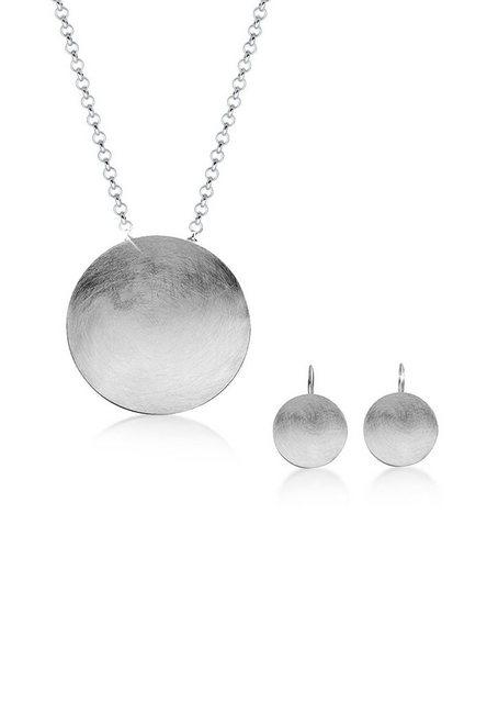 Nenalina Schmuckset »Set: Silberset Basic Geo Kreis Brushed 925 Silber« (Set, 2 tlg) | Schmuck > Schmucksets | Nenalina