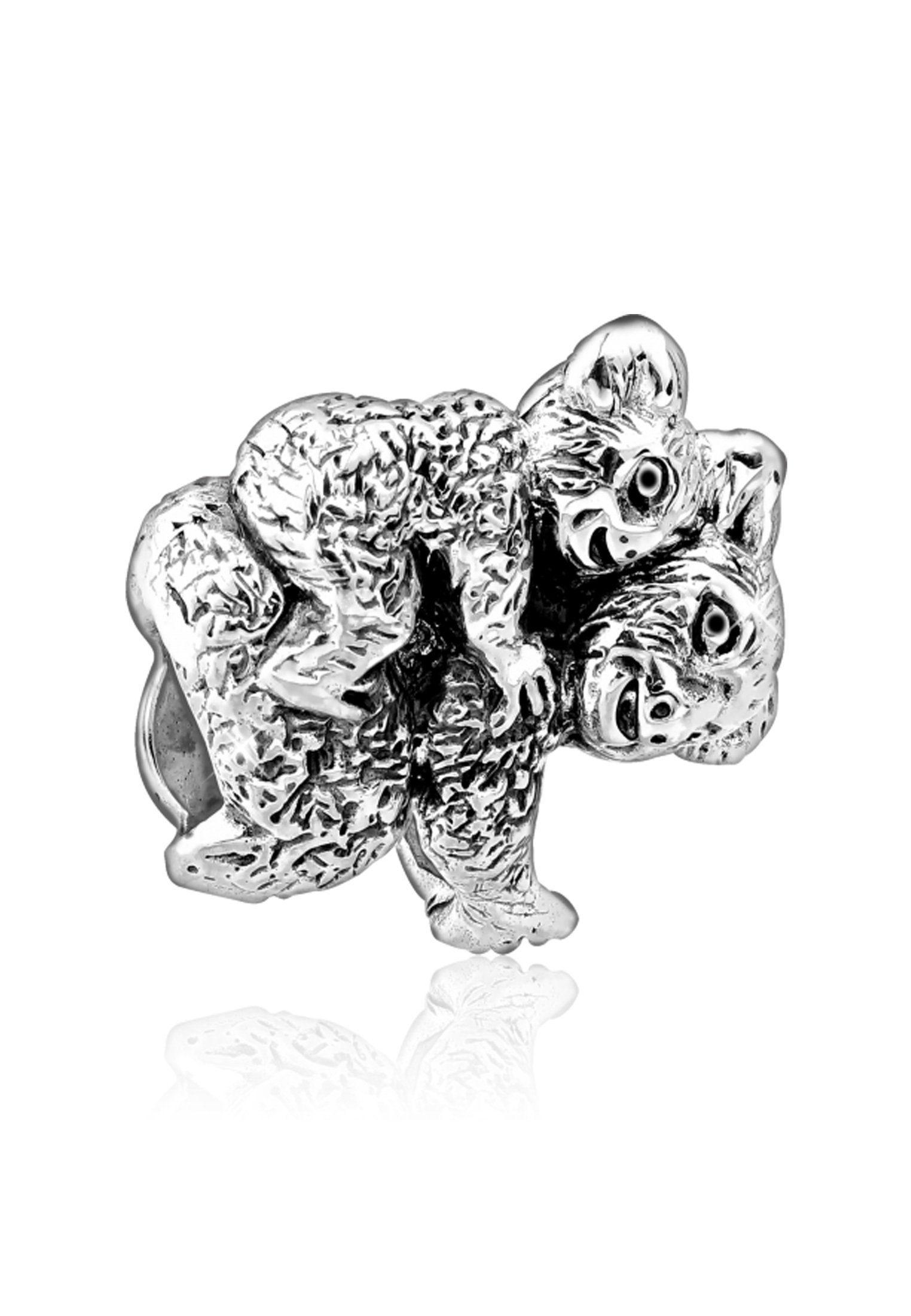 Nenalina Charm-Einhänger »Koala-Bären Paar Bead Anhänger 925 Sterling Silber«