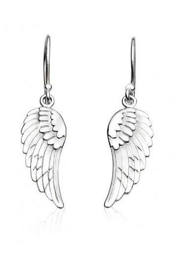 Nenalina Paar Ohrhänger »Ohrhänger Flügel Glücksbringer Engel 925 Silber«