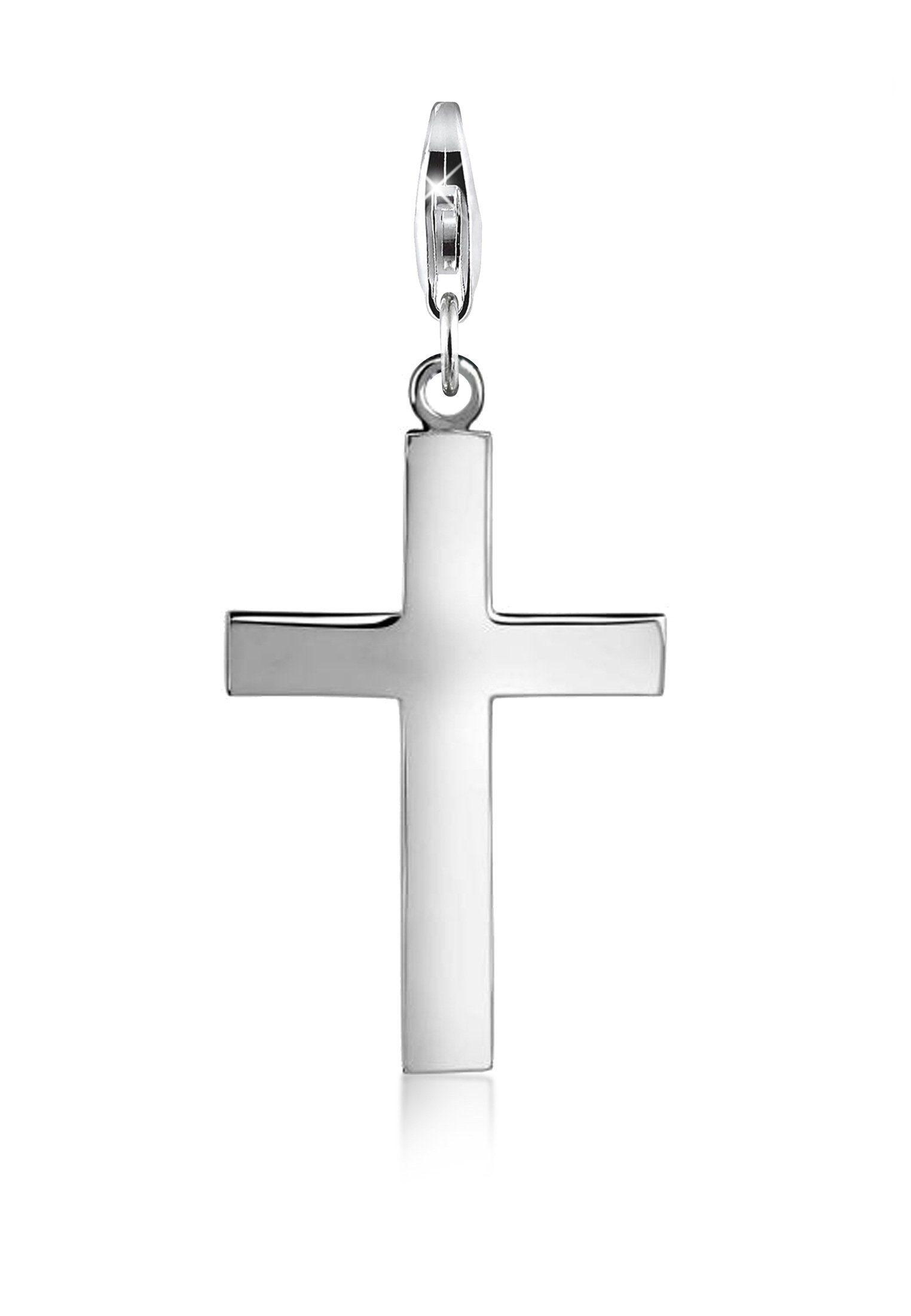 Nenalina Charm-Einhänger »Kreuz Symbol Geo Anhänger 925 Silber«