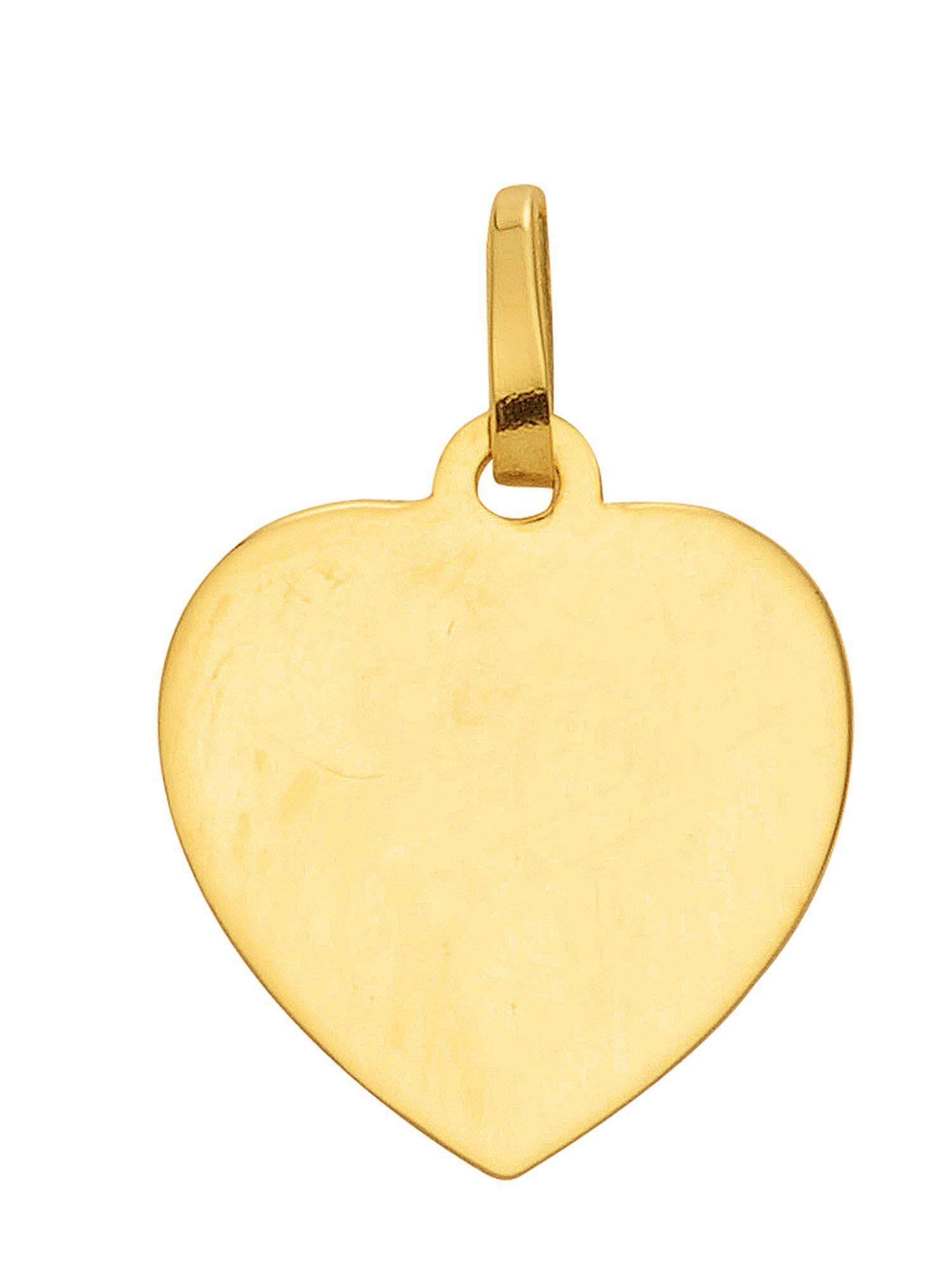 Adelia´s Kettenanhänger »Gold Gravurplatten« 14 k 585 Gelbgold