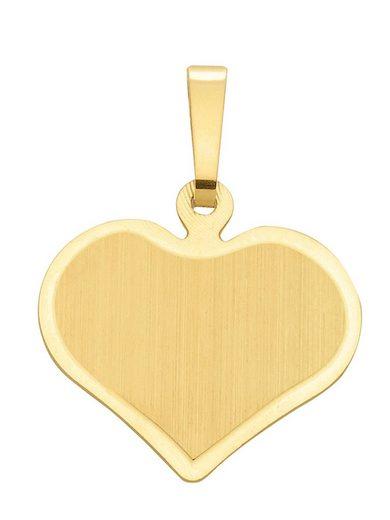Adelia´s Kettenanhänger »Gold 14 k (585) Gravurplatte« 14 k 585 Gelbgold