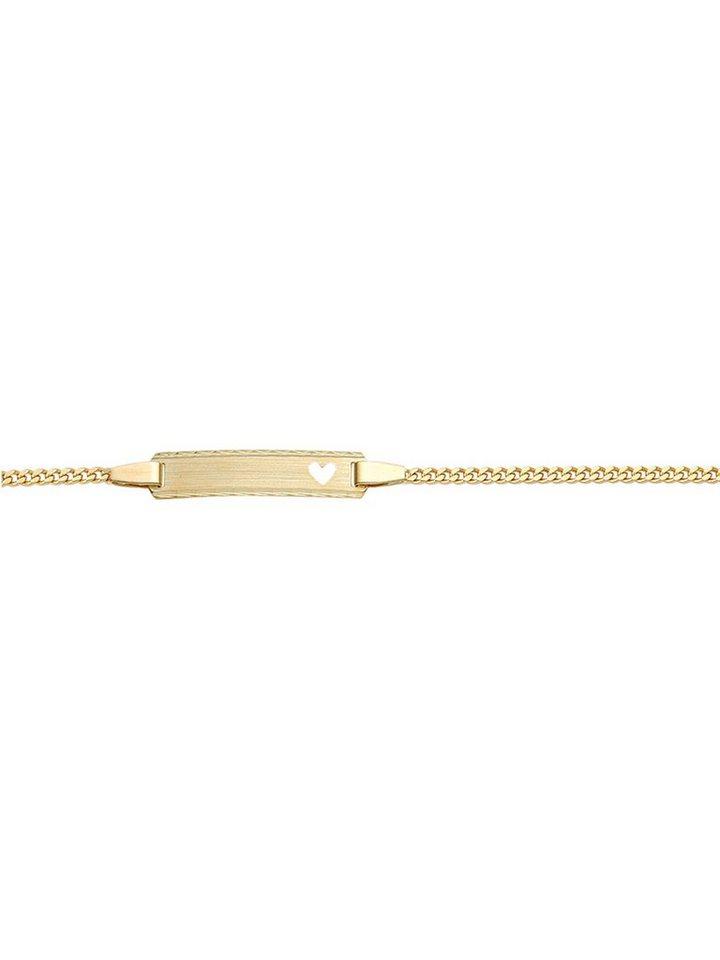 Adelia´s Goldarmband »Gold Armbänder« 14 k 585 Gelbgold Flach Panzerkette   Schmuck > Armbänder > Goldarmbänder   Goldfarben   Adelia´s