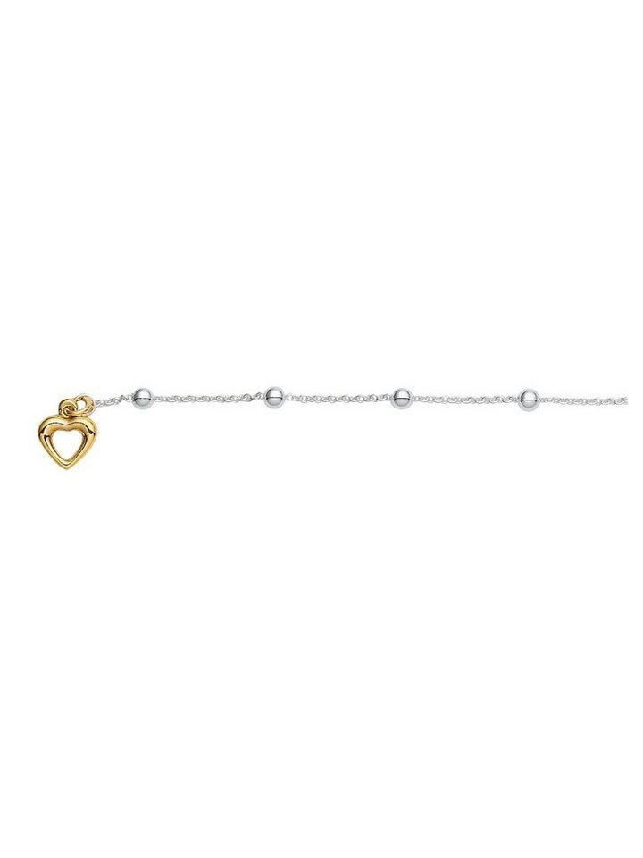 Adelia´s Kettenanhänger »Silber Anhänger« 925 Sterling Silber vergoldet  Ankerkette rund 9bc755acdd