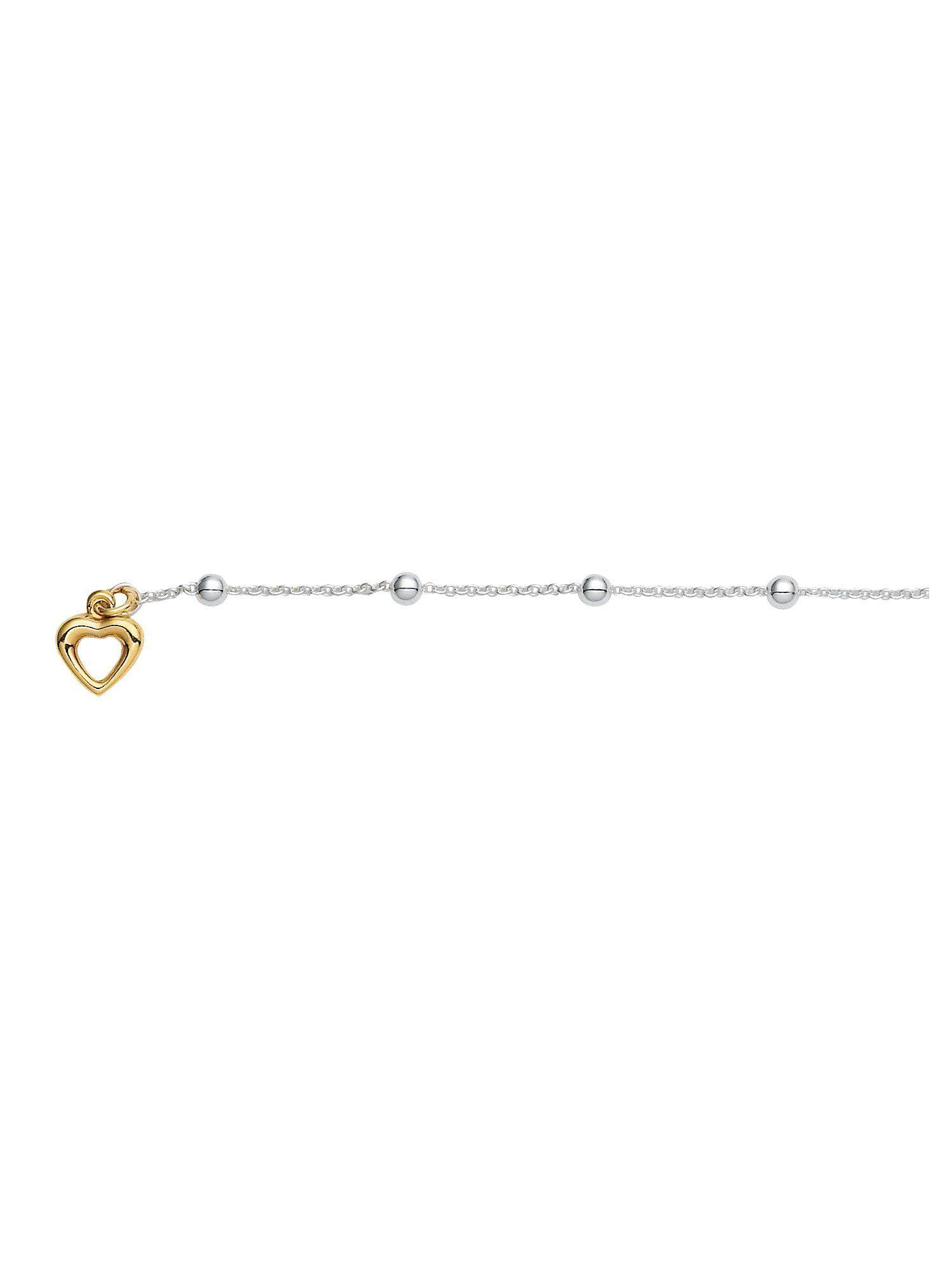 Adelia´s Kettenanhänger »Silber Anhänger« 925 Sterling Silber vergoldet Ankerkette rund