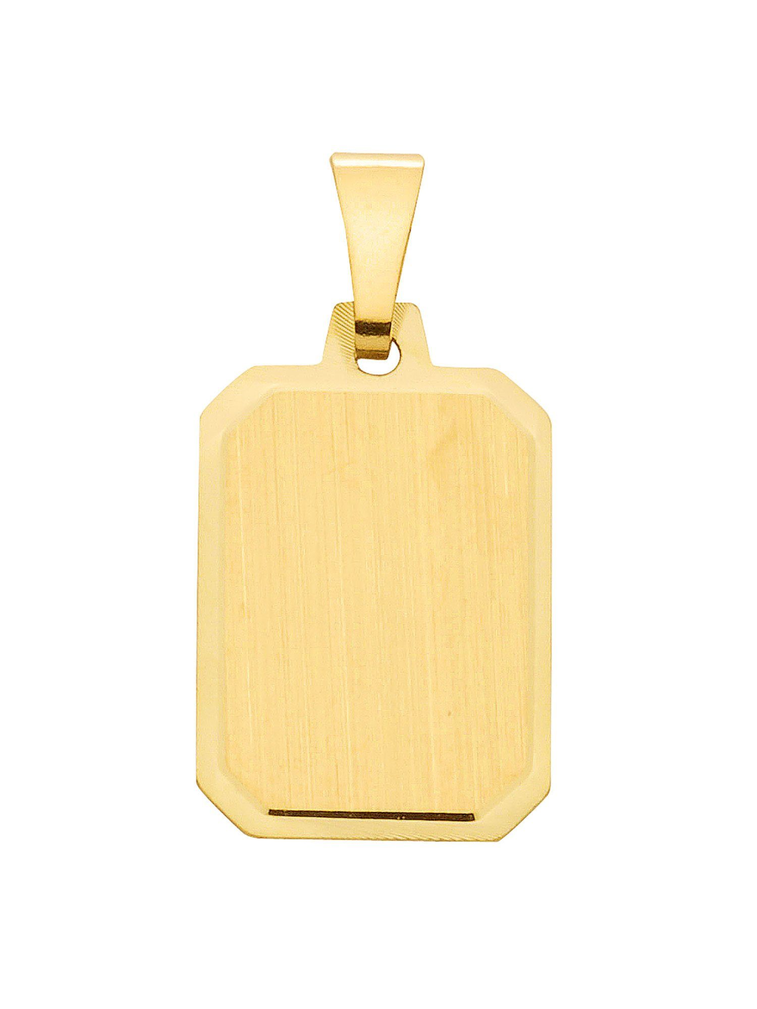 Adelia´s Kettenanhänger »Gold Gravurplatten« 8 k 333 Gelbgold