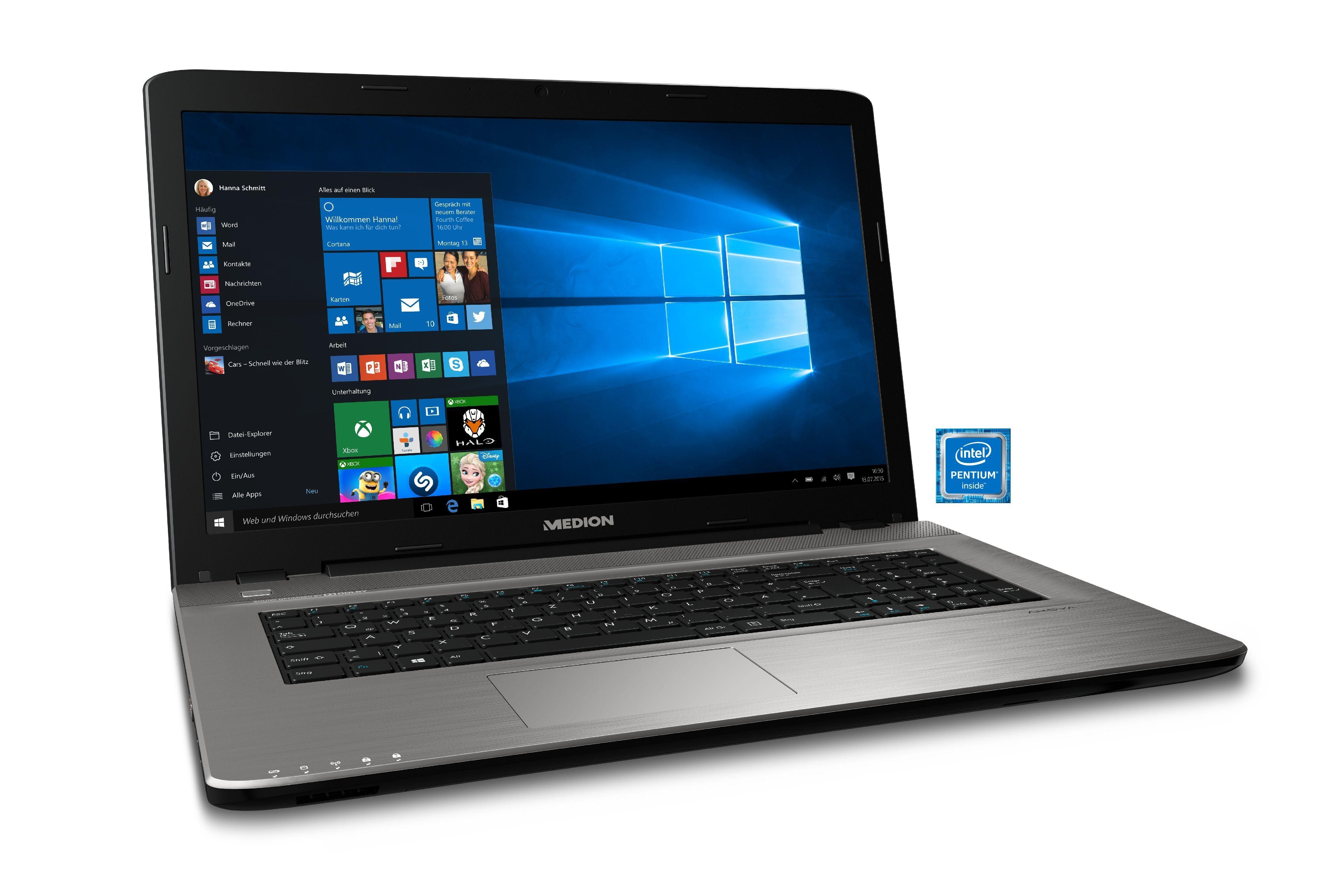 """MEDION® AKOYA E7425 MD61091 Notebook »43,9 cm (17,3"""") Intel Pentium, 1 TB HDD, 8 GB«"""