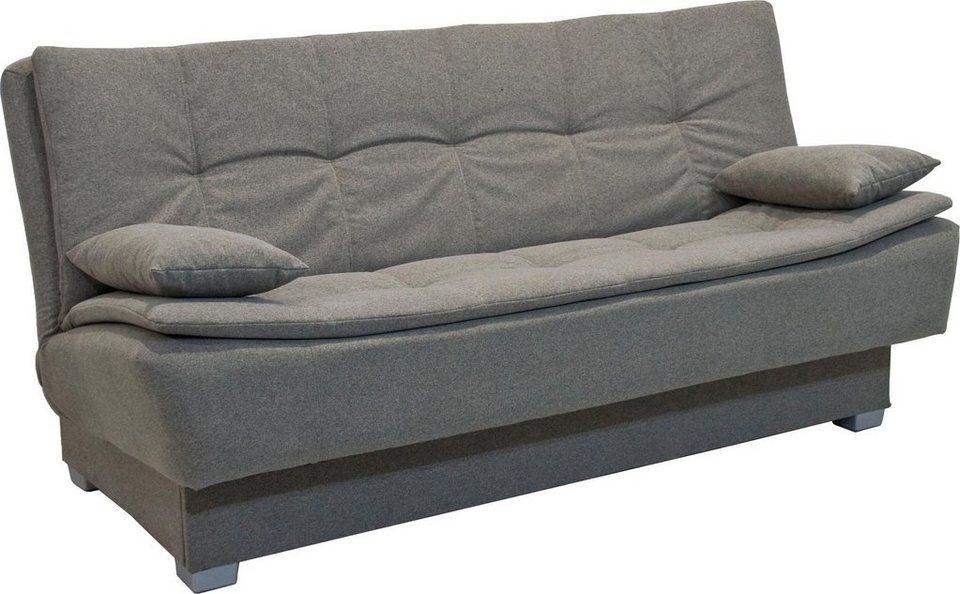 inosign schlafsofa justine mit mattenoptik und steppn hten bettkasten und federkern online. Black Bedroom Furniture Sets. Home Design Ideas