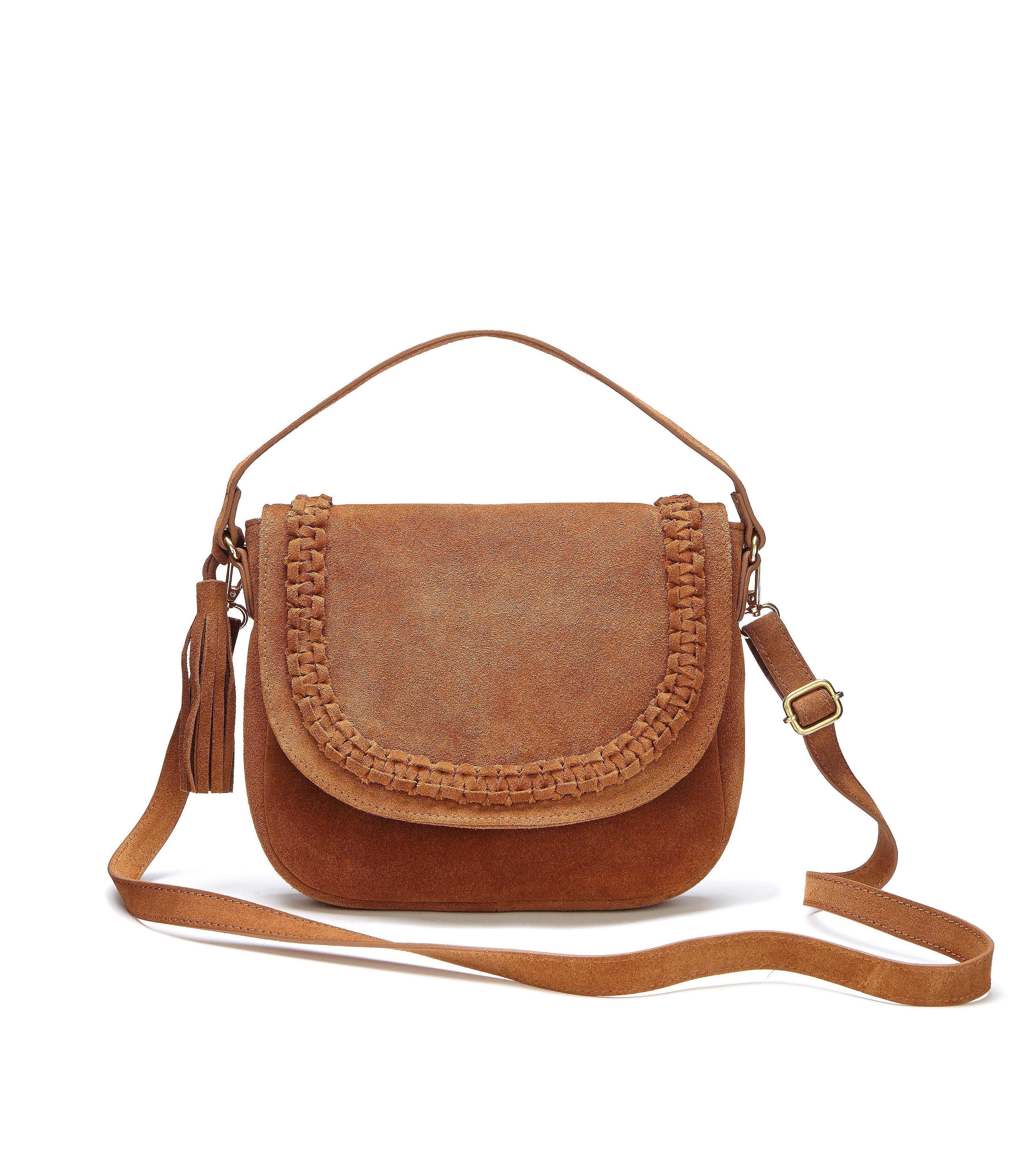LASCANA Umhängetasche, aus Leder mit Tassel kaufen | OTTO