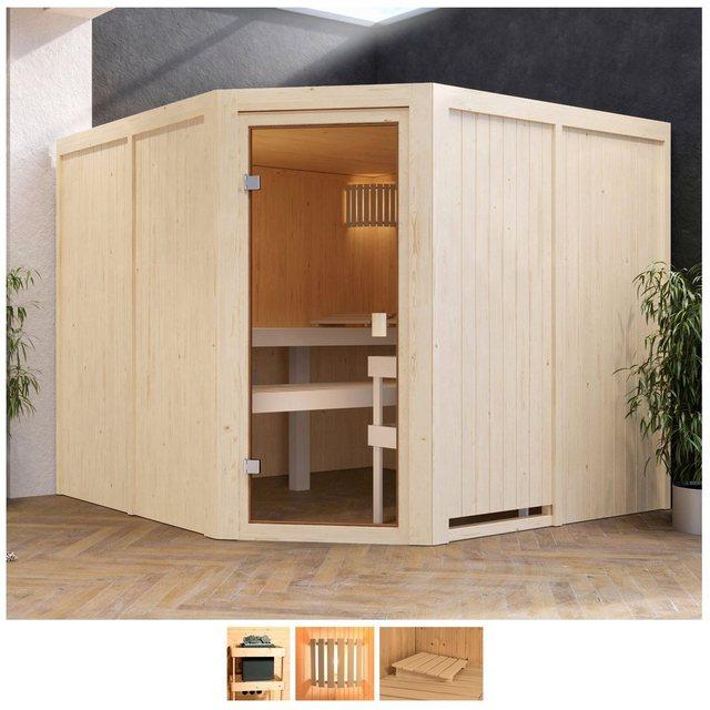 Saunen und Zubehör - Karibu Sauna »Evka«, BxTxH 231 x 231 x 198 cm, 68 mm, ohne Ofen  - Onlineshop OTTO