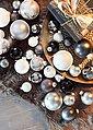 Thüringer Glasdesign Weihnachtsbaumkugel »Black & White« (50 Stück), Bild 2