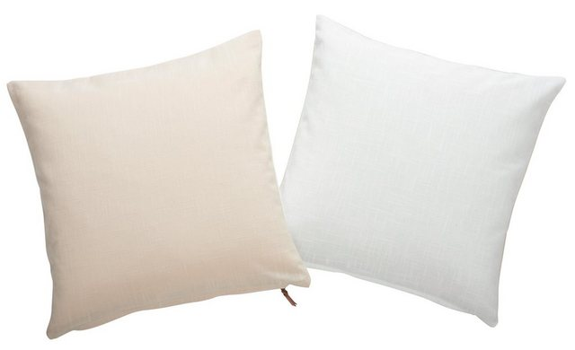 Kissenhüllen »Lars«  andas (2 Stück)  Reißverschuss mit Kunstlederlasche   Heimtextilien > Bettwäsche und Laken > Kopfkissenbezüge   andas